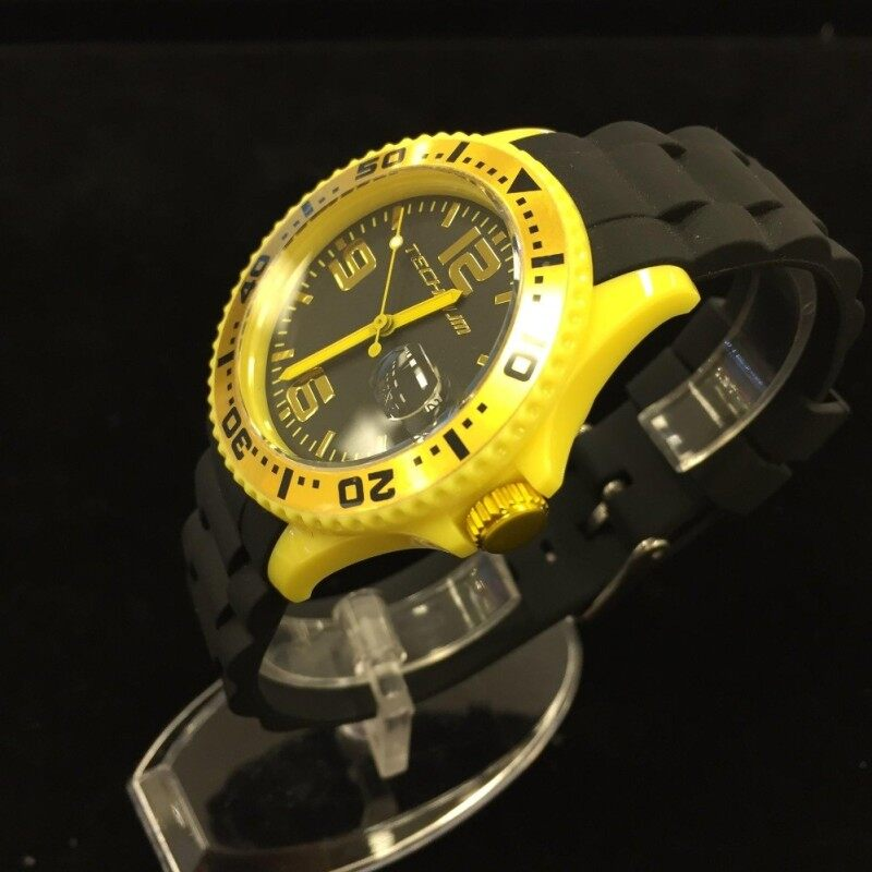 TECHNUM EX3.170.BLKYLW Fashion Quartz Analog Casual Malaysia