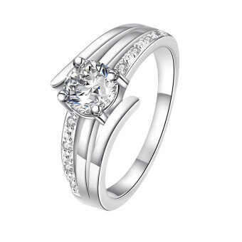 Harga Temperament Sterling Silver Zircon Ring Women Jewelry Transparent