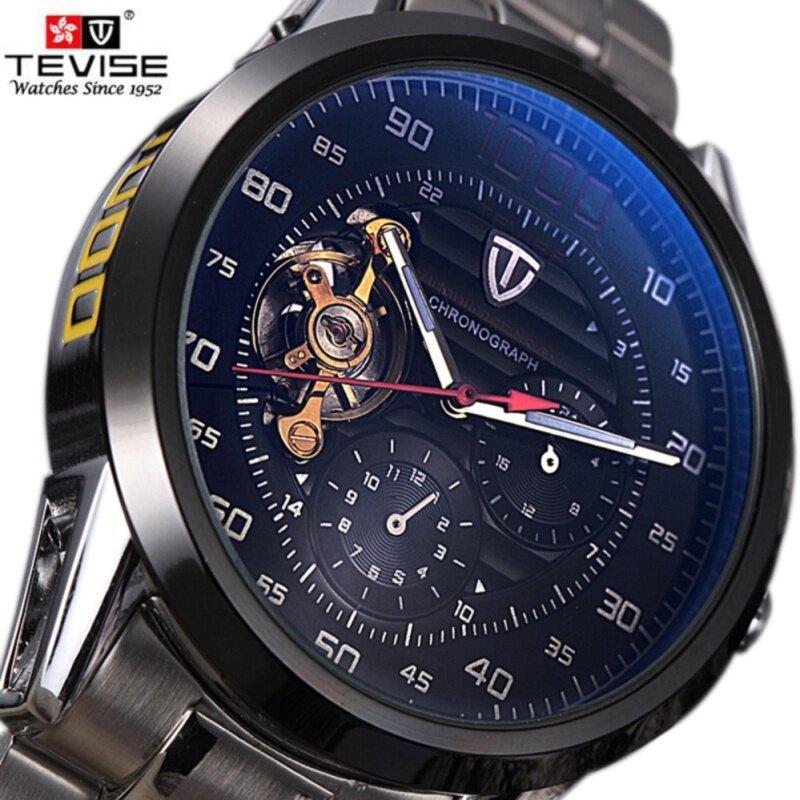 Tevise Brand Fashion Luxury Mens Mechanica Watches Automatic Skeleton Watch Clock Male Business Waterproof Relogio Masculino F8378-002 Malaysia