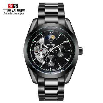 Harga Tevise Luxury Brand Watch Mechanical Watch Men Business Wristwatches Automatic Watches Men Clock Black
