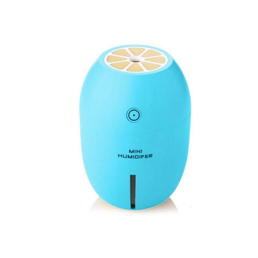 Panjang B Kualitas Terbaik Warna Segar Baru 180 Ml Lemon Mini Usbportablehumidifier LED Ringan Udara Purifier Diffuser Kabut Maker forhomeoffice Mobil (Biru) -Internasional