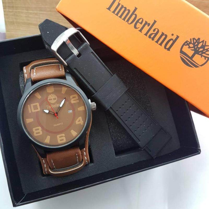 Timberland Quartz Leather Men Stylish Dial Watch (Brown Dial) Malaysia