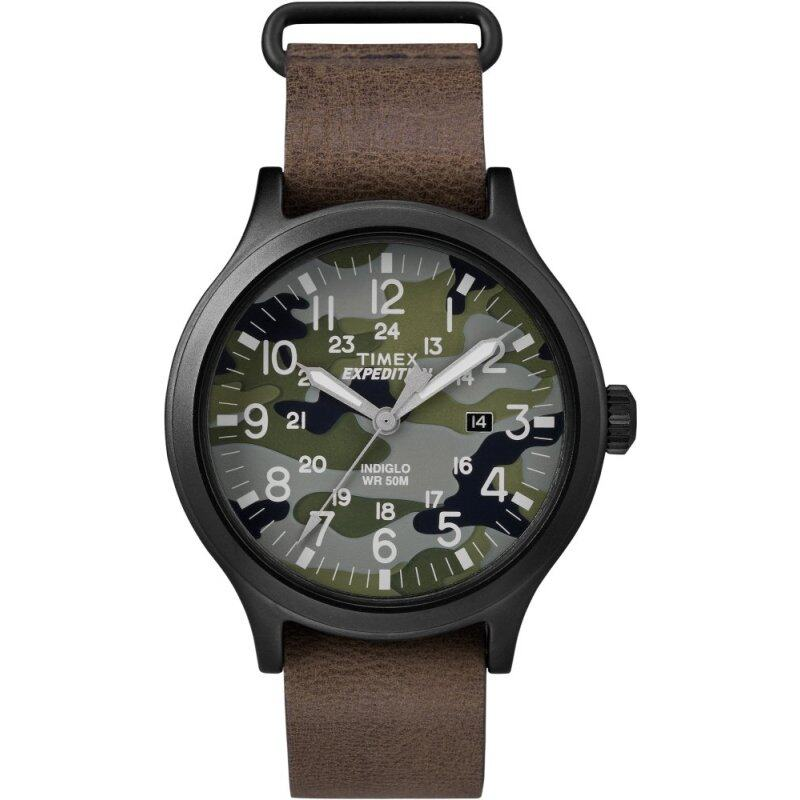 Timex Expedition® Scout 43  - Camo Dial/Brown Leather Strap Malaysia