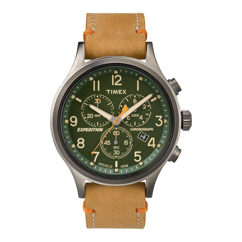 Timex Expedition® Scout Chrono with Gray Case and Leather StrapTW4B04400 Malaysia