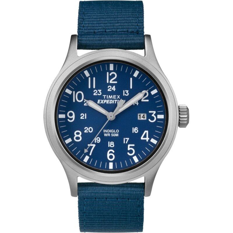Timex Expedition® Scout - Navy Blue/Brown Nylon Strap Malaysia