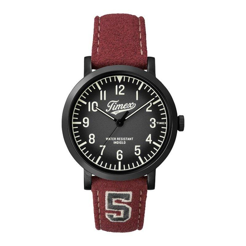 Timex Style-Originals Originals Modern Originals Blk Case Finish Black Dial And Red Strap Malaysia