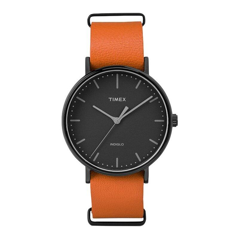 Timex Weekender™ Fairfield - Black Case and Leather Strap TW2P91400 Malaysia