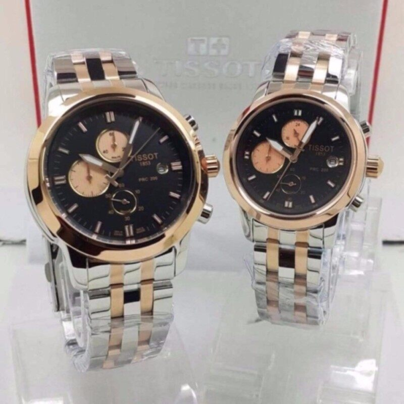 Tissot Couple Steel Gold/Silver Watch Malaysia