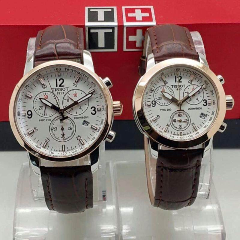 Tissot Men Women Couple Leather Quartz Date Wrist Fancy Watch Malaysia