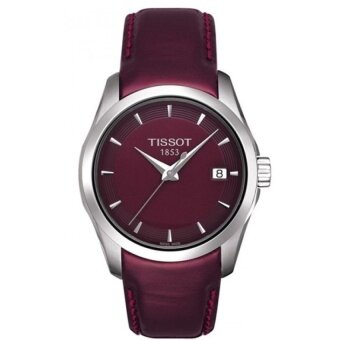 Tissot Red Leather strap Watch Tissot T035.210.16.371.00
