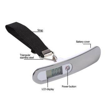 TMISHION 50KG/ 10G Travel Hanging Weight High Precision DigitalLuggage Scale LCD Display (Red) +Strip - 4