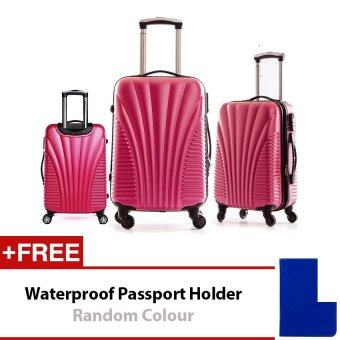 Travel Star Shell Design Hard Case Luggage Set 20+24+28 inches Red