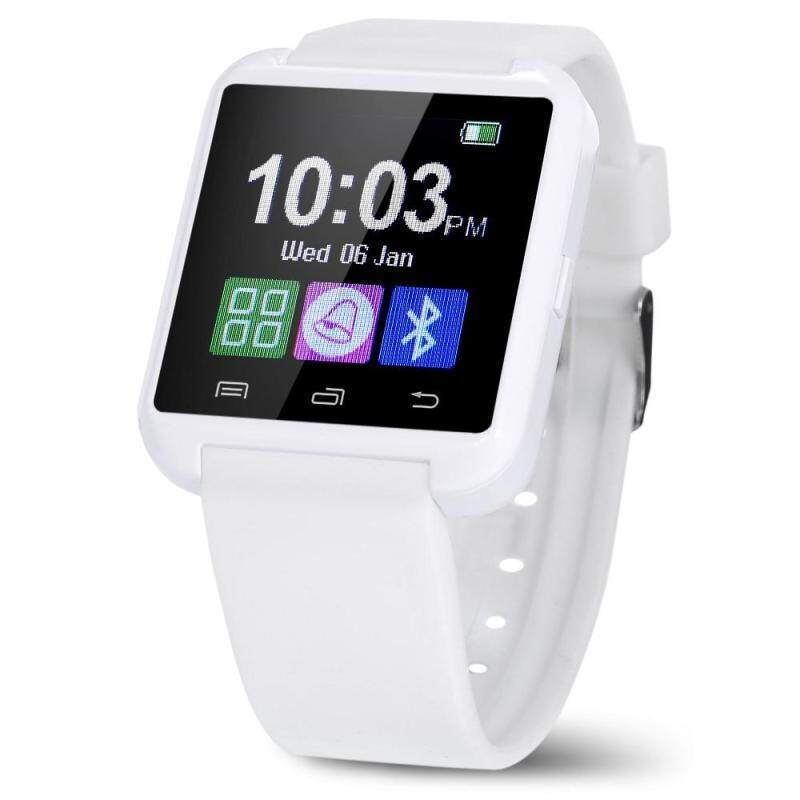 U8 SMARTWATCH WITH WATCH PASSOMETER TOUCH SCREEN TOUCH AND DIAL PHONE (WHITE), White Malaysia