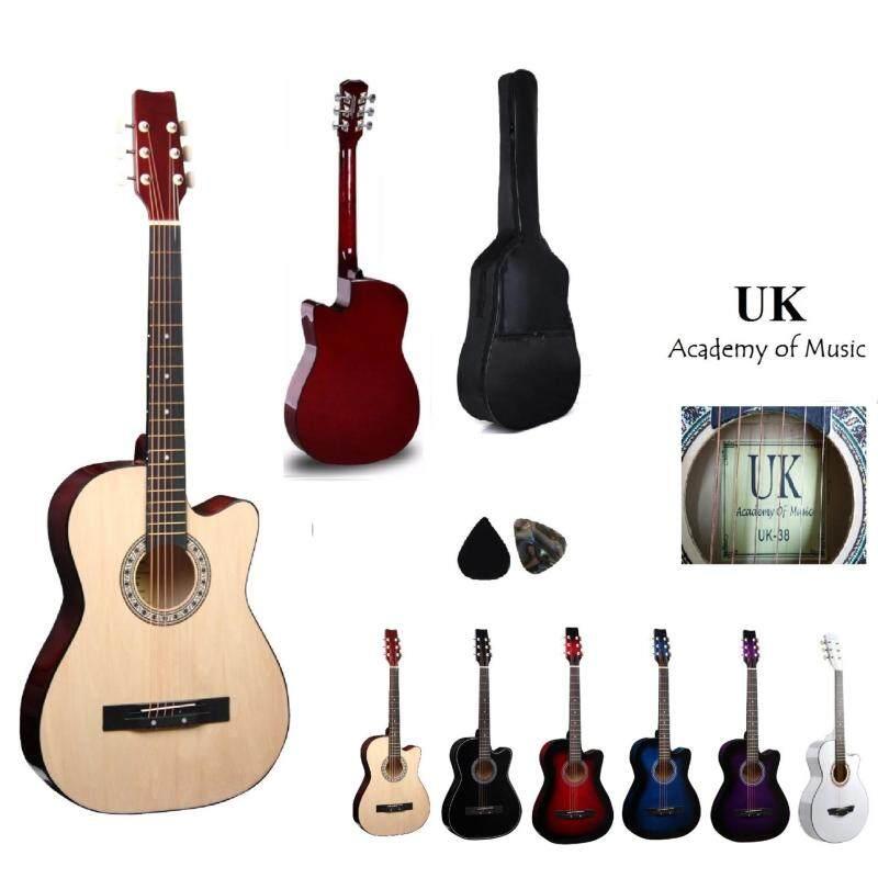 UK Acoustic Guitar 38 Inch(Natural) Free Bag and 2 Picks Malaysia
