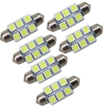Universal Dome Lampu LED Mobil Kabin / Plafon / Festoon 6 SMD 5050- 36mm Length
