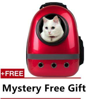 [UPGRADED VERSION] EXTRA DURABLE Fashion Astronaut Capsule Transparent Breathable Pet Bag (Red)