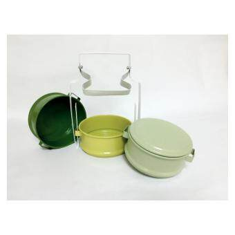 Harga VINTAGE TIFFIN LUNCH BOX (GREEN)