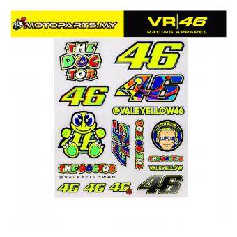 Harga VR46 VALEYELLOW BIG STICKERS VALENTINO ROSSI