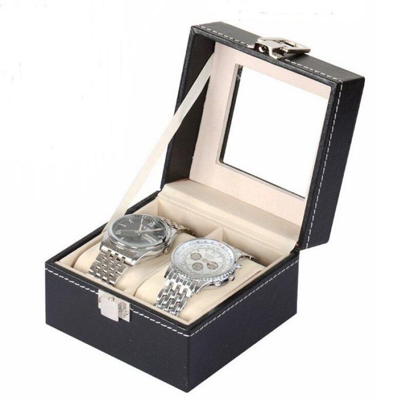 Watch Case PU Leather Box Storage 2 Slots Malaysia