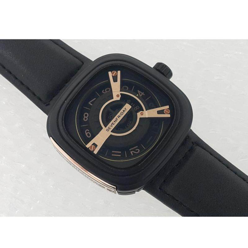 Watches Arabic hour markers Model SevenFriday M-Series - Black Leather Strap Malaysia
