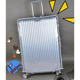 "Harga Waterproof Transparent Travel Luggage Protector Cover Size 24"" Inch"