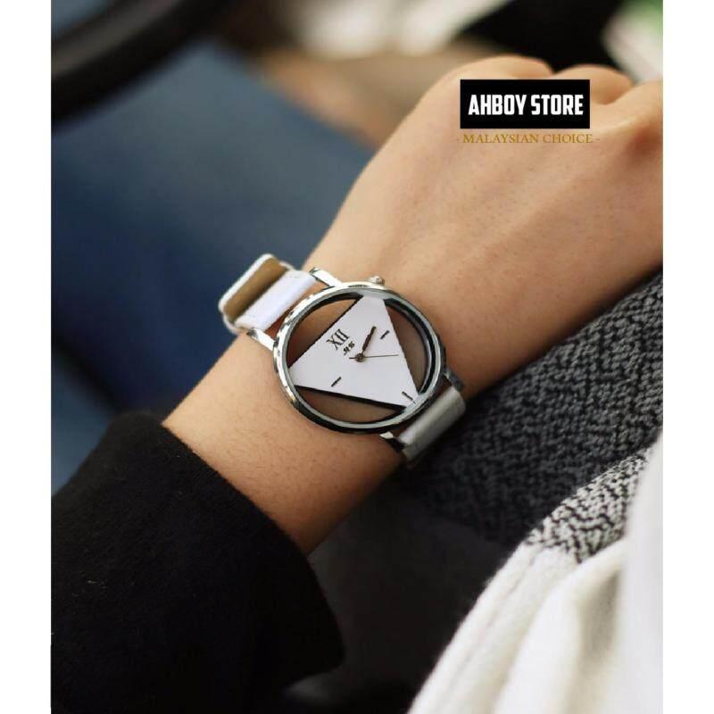 WHITE Mens Womens Couple Triangle Quartz Watches Valentines Day Memory Gift Black White Malaysia