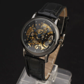 Harga WINNER 8286 Stainless Steel Synthetic Leather Men Male Skeleton Automatic Mechanical Self Wind Military Sport Business Wrist Watch