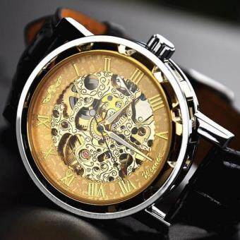 Harga Winner Genuine Hollow Mechanical Watches Men's Business Casual Automatic Mechanical Watch