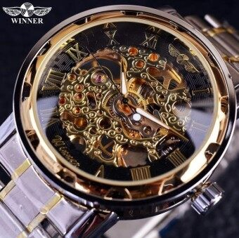 Harga Winner Number Sport Design Bezel Golden Top Brand Luxury MontreHomme Clock