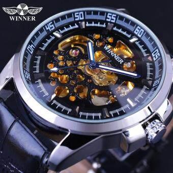 Winner Watch Luxury Sport Designer Gold Skeleton Mechanical Watch Men Clock Stainless Wristwatches Relogio Masculino Male