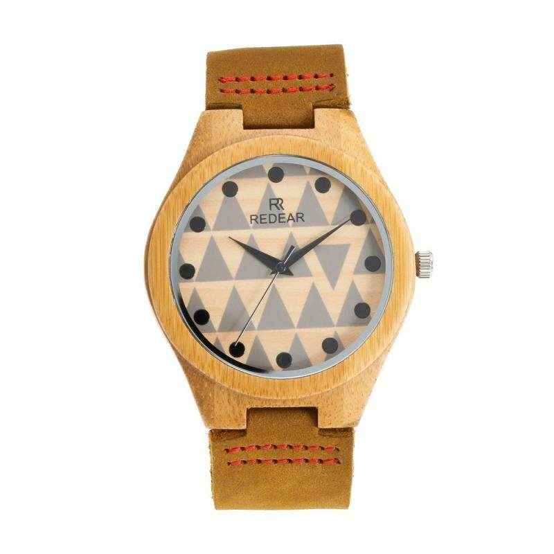 Wish hot Mens Watch Redil bamboo triradii watch male spot wholesale leather quartz watch Malaysia