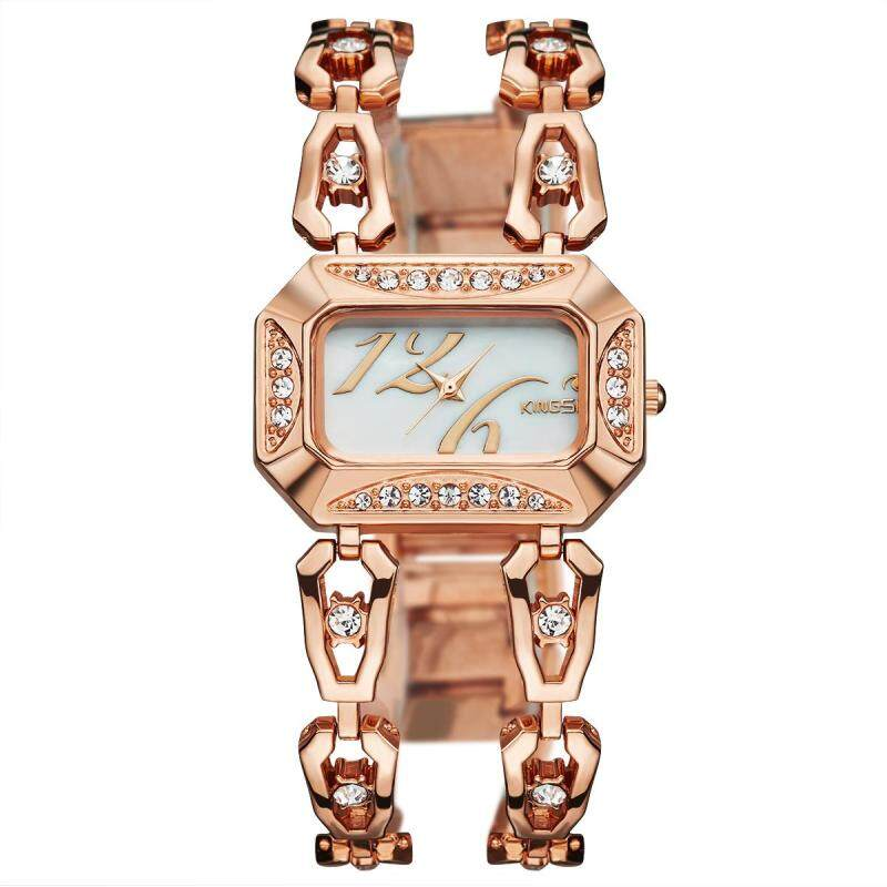 Womdee 2016 new kingsky twist drill diamond watch watch watch customized wholesale manufacturers of quartz watch (Rose Gold) Malaysia