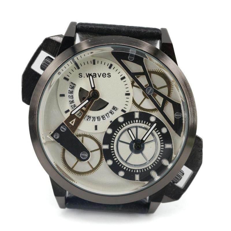 Womdee A couple of genuine quartz watch strip waterproof watch fashion personality quartz watch waterproof watch (Black) Malaysia