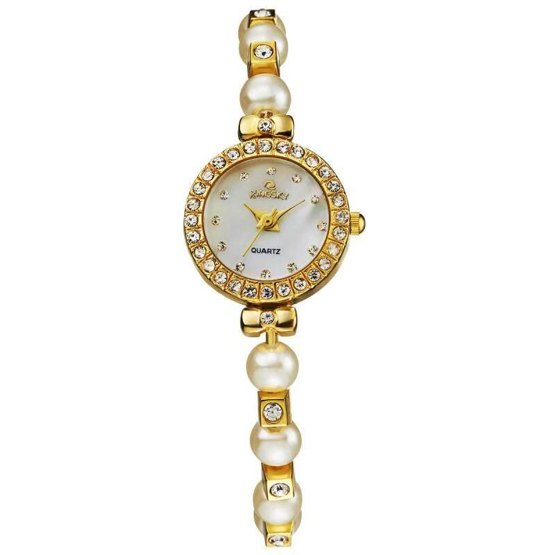 Womdee EBay aliexpress wish Dunhuang ec21 support on behalf of MS kingsky quartz watch bead chain (Gold) Malaysia