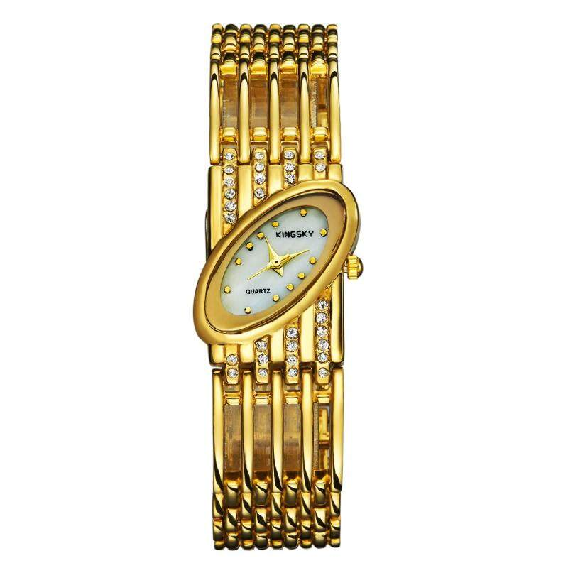 Womdee Kingsky genuine hand twist drill watch quartz watch factory direct foreign trade import machine color wholesale (Gold) Malaysia
