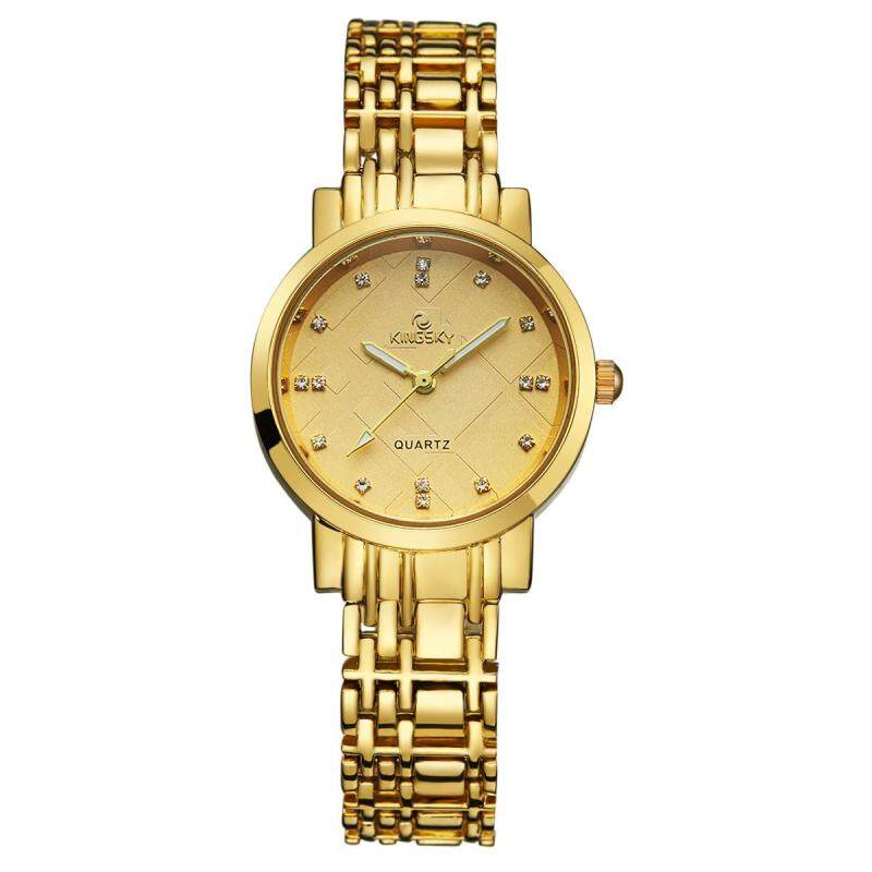 Womdee Kingsky new watch quartz watch manufacturers custom personality table fashion watch (Gold) Malaysia