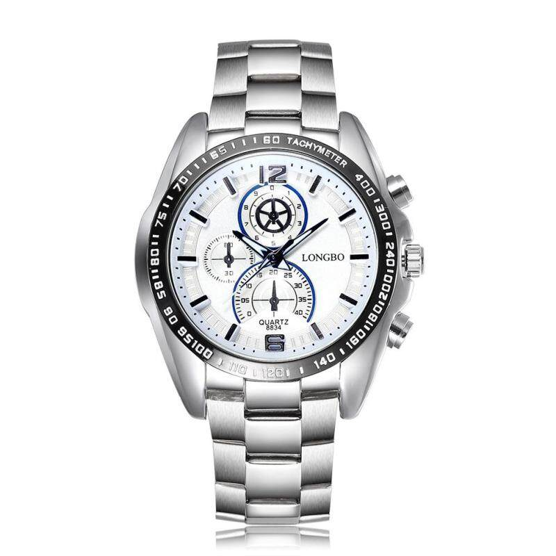 Womdee Long explosion models wholesale authentic thin quartz movement trend of casual mens fashion strip watch (White) Malaysia