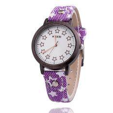 Womdee Network selling Ke purple KEZZI PU belt fashion watch Star students watch Watch (Purple) Malaysia