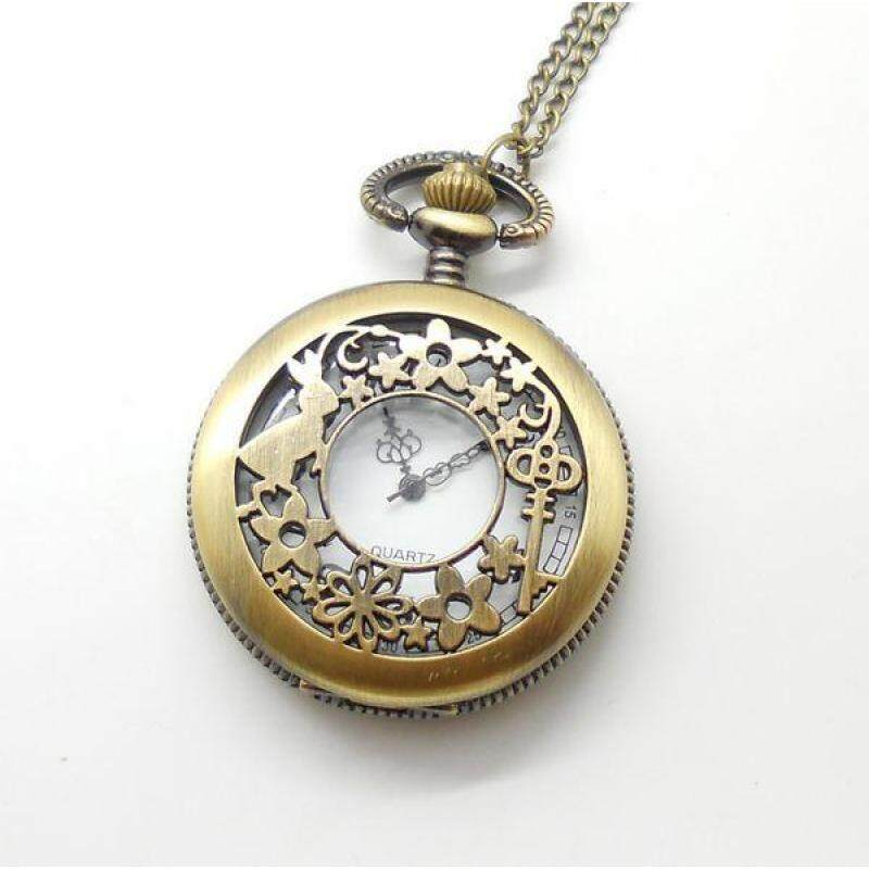 Womdee Watch pocket vintage bronze bunny rabbit key fashion quartz wholesale hot sale free shipping (Bronze) Malaysia
