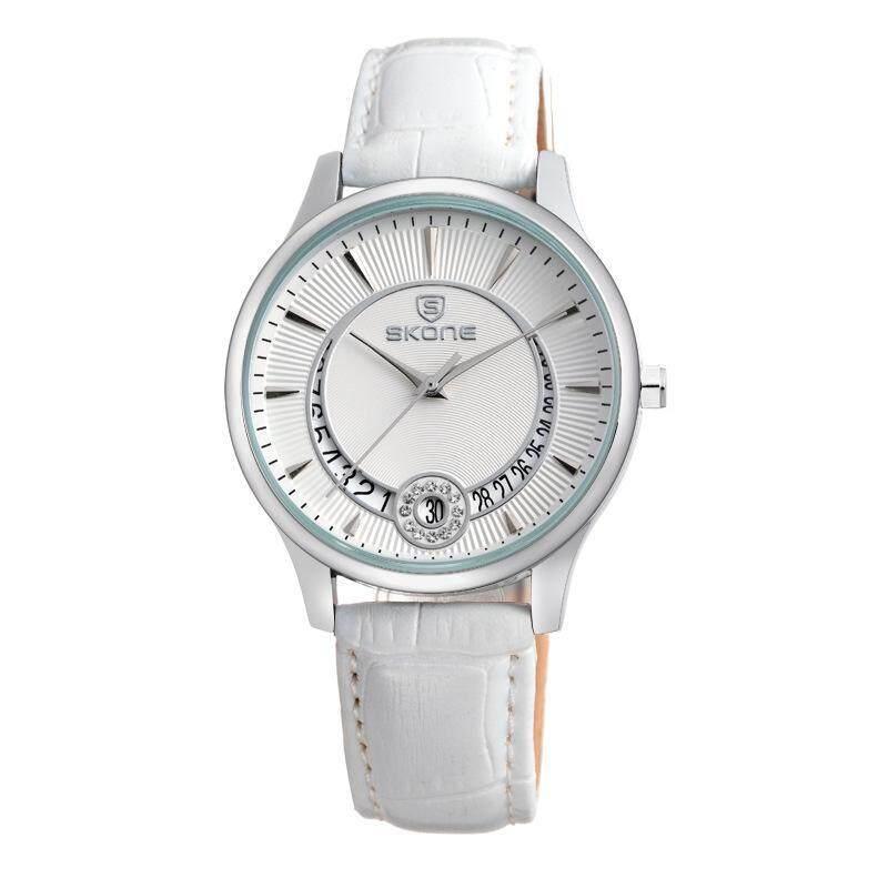 Womdee Watch time series of fashion belt diamond calendar watch cheap spot wholesale 9242 (WhiteSilver) Malaysia