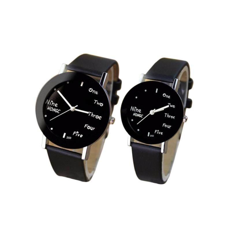 YBC 1 Pair Fashion Couple Watches Quartz Round Dial Watch Malaysia