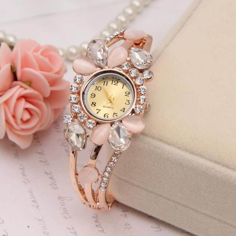 YBC Women Flower Rhinestone Bangle Watches Luxury Quartz Wristwatch Malaysia