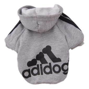 YingWei Dog Pet Cat Sweater Hoody Coat Jacket Puppy clothes S(Grey)